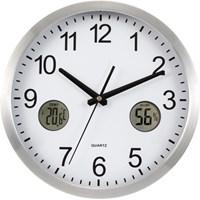 Plastic 30cm wall clock.