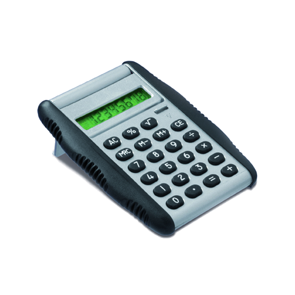 Calculator with rubber sides