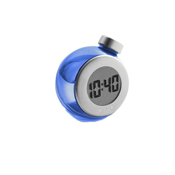 LCD water powered desk clock