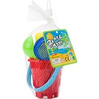 Mini beach bucket in four colours.