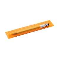 Plastic translucid ruler (12cm).