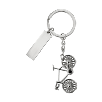 Nickel plated keychain.
