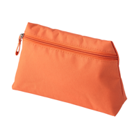 Polyester (600D) toilet bag in a tapered form with matching zipper and puller.