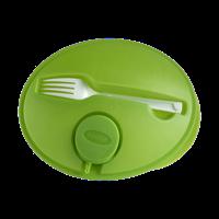 Oval shaped salad box.