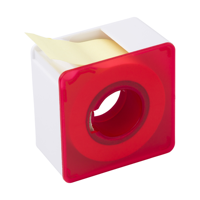 Square plastic memo dispenser.