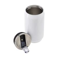 Double walled, 330ml leak proof steel drinking can.