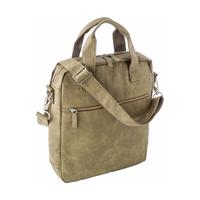 Laptop shoulder bag in a soft PU material.