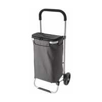 Groceries trolley in a polyester 320g grey material.