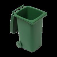 Plastic desk trash bin