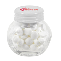 Small glass jar with mints