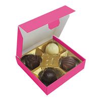Chocolate box with 4 pralines
