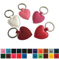 Belluno Heart Shaped  Key Fob in a choice of Belluno Colours