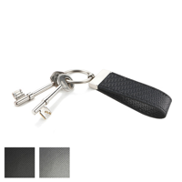 Carbon Fibre Effect Large Loop Key Fob with a Swivel Split Ring