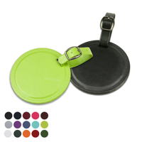 Round Bag Tag in a choice of Belluno Colours