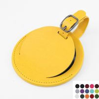 Belluno Coloured  PU Round Luggage Tag with a Security Flap