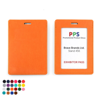 Belluno Colours PU Landscape ID Card Holder for a Lanyard or Clip