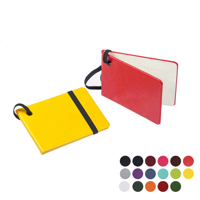 Notebook Style Luggage Tag with Elastic Retainer.in a choice of Belluno Colours