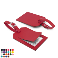 Belluno PU Rectangle Luggage Tag with Security Flap to obscure the printed address card