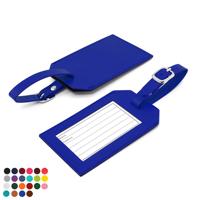 Belluno PU Rectangle Luggage Tag with window & printed address card