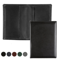 Hampton Leather Card Case with two raw cut leather pockets.