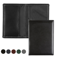 Hampton Leather Card Case with one clear pocket and one leather pocket.