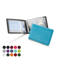 Credit Card Case for 6-8 Cards.in a choice of Belluno Colours