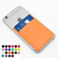 Belluno Coloured  PU Card Case with One Card Slot, to stick to back of mobile phone