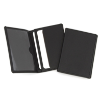 Hampton Leather Oyster Travel Card Case, One Clear One Solid Pocket