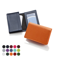 Deluxe Business Card Dispenser with Framed Window Pocket in a choice of Belluno Colours