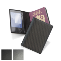 Carbon Fibre Textured Basic Passport Wallet