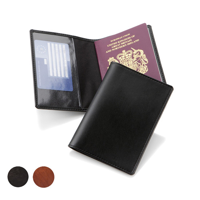 Richmond Deluxe Nappa Leather Passport Wallet with clear pockets