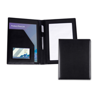 Black Belluno PU A5 Conference Folder
