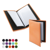 A5 Information, Wine List or Menu Holder with eight clear pages.in a choice of Belluno Colours