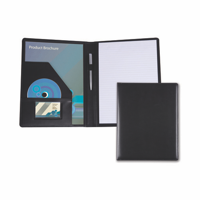 Black Belluno PU A4 Conference Folder