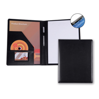 Belluno PU A4 Conference Folder with Pad Clip