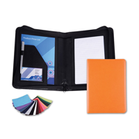 Belluno PU A5 Zipped Conference Folder in a choice of Belluno Colours
