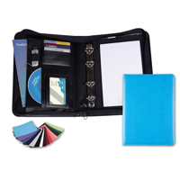 Belluno PU A5 Deluxe Zipped Ring Binder in a choice of Belluno Colours