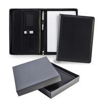 Ascot Leather A4 Zipped Deluxe Conference Folder