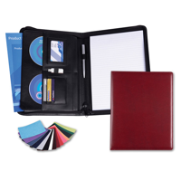 Belluno PU A4 Deluxe Zipped Conference Folder in a choice of Belluno Colours