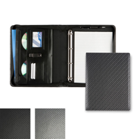 Carbon Fibre Effect A4 Deluxe Zipped Ring Binder