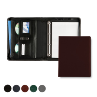 Hampton Leather A4 Deluxe Zipped Ring Binder