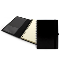 A5 Wiro Notebook with Elastic Strap and  Pen Loop