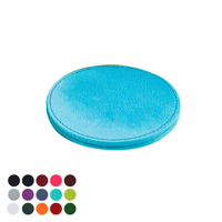 Deluxe Round Coaster with Edge Stitching in a choice of Belluno Colours