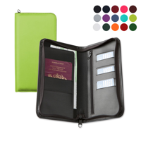 Zipped Travel Wallet in a choice of Belluno Colours