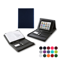 A4 Zipped Portfolio with Integral iPad Holder & Display Stand in a choice of Belluno Colours
