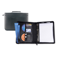 Black Houghton A4 Zipped Ring Binder With Calculator And Carry Handle