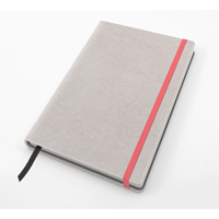 Saffiano Textured A5 Casebound Notebook with Elastic Strap