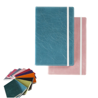 Kensington Distressed Nappa Leather A5 Casebound Notebook with Edge Stitching