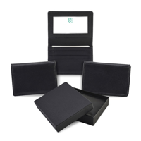Sandringham Nappa Leather Business Card Holder with Travel or Oyster Card Window