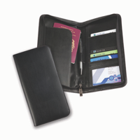 Balmoral Bonded Leather Deluxe Zipped Travel Wallet